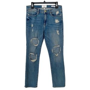 Frame distressed denim jeans